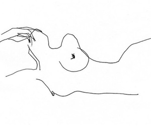 art, black and white, and body image