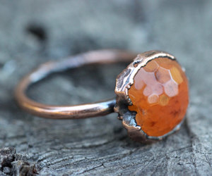 crystal ring, gemstone ring, and mineral jewelry image