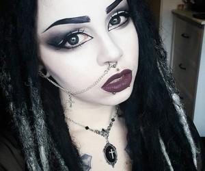 alternative, dreadlocks, and make up image