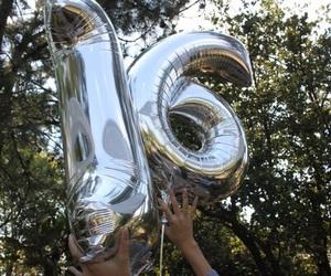 16, balloons, and sixteen image