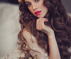 autumn, beauty, and bride image