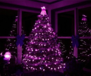 christmas, purple, and tree image