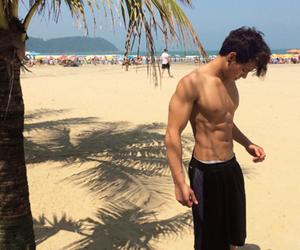 boy, beach, and cameron dallas image