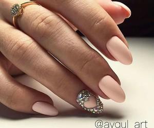glitter, heart, and nail art image
