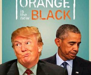 funny, obama, and trump image