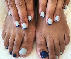 art, navy, and pedicure image