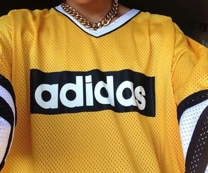adidas, yellow, and clothes image