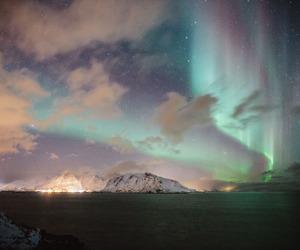 sky, nature, and aurora image