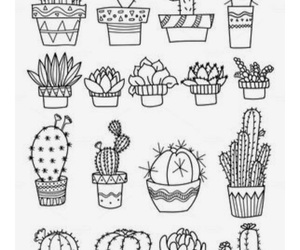 doodle, pattern, and plant image