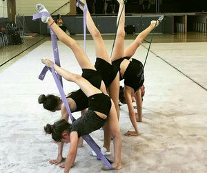 best friends, besties, and flexibility image