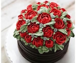 chocolate, rojo, and rosas image