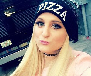 meghan trainor and pizza image