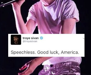 america, troye sivan, and donald trump image