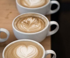 coffee, latte, and heart image