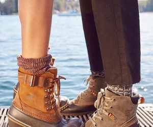 boots, cool, and couple image