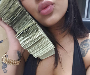 money, tattoo, and lips image