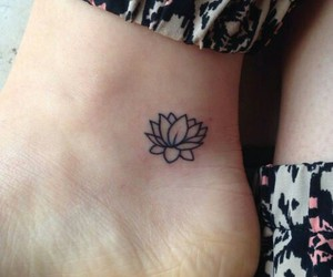 tattoo, flowers, and lotus image