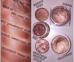 dupe, loreal, and mac image