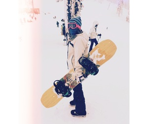 snow, snowboarding, and sport image