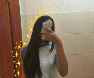 mirror selfie, girl, and icon image