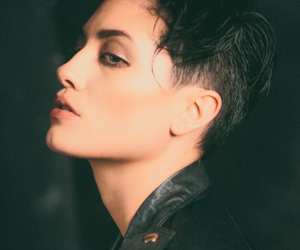 hair, model, and tomboy image