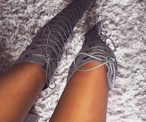 boots, shoes, and grey image