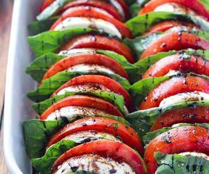food, tomato, and salad image