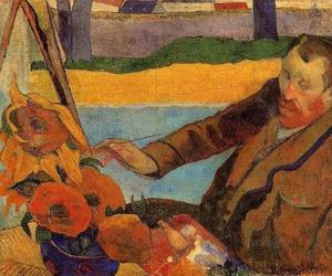 paul gauguin, sunflower, and van gogh image