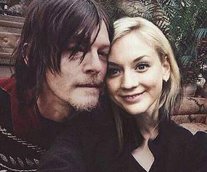 norman reedus and emily kinney image