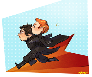 star wars, kylo ren, and general hux image