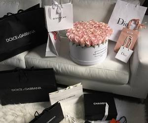 dior, flowers, and chanel image
