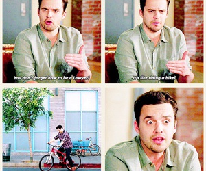 new girl, nick miller, and funny image