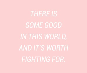 quotes, pink, and fight image