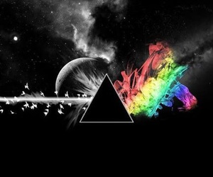 Pink Floyd, rainbow, and triangle image