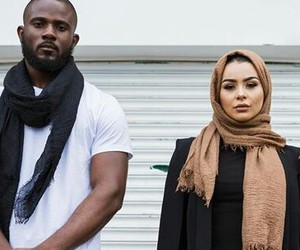 black, couple, and hijab image