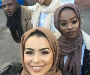 black, hijab, and king image