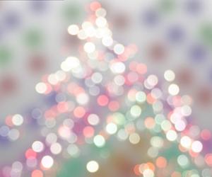 light, christmas, and rainbow image