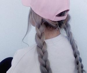 hair, pink, and tumblr image