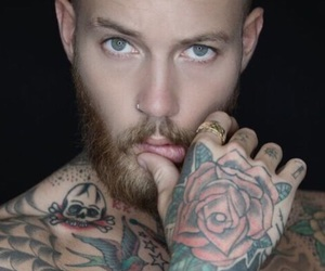 beard, billy huxley, and male model image