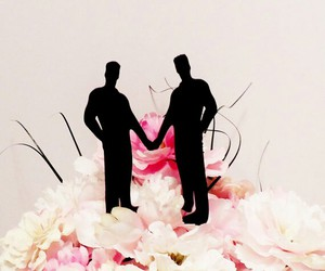 cake topper, gay wedding, and gay image