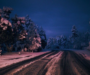roads, winter, and snow image