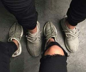 shoes, yeezy, and couple image