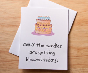 birthday card, oral sex, and etsy image