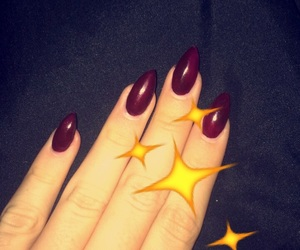 gel, nails, and red image
