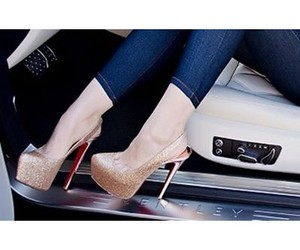 heels, pumps, and louboutin image
