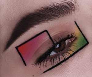 makeup, aesthetic, and eye image