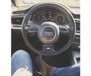 audi, car, and girl image