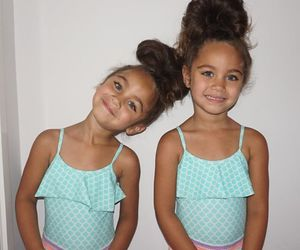 girl, sisters, and cute image