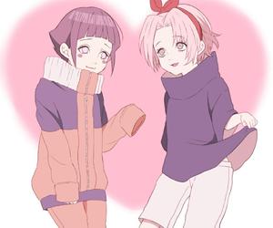 hinata, sakura, and sasusaku image