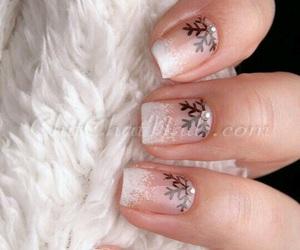 nails, nail art, and christmas image
